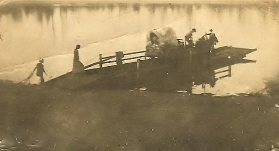 Jenkins Family Crossing the Red River