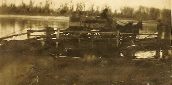 Jenkins Supply Wagon Crossing Red River